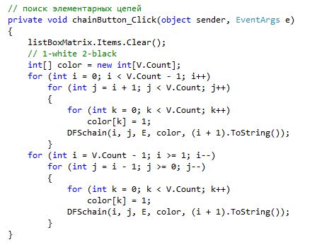 Построение графов - код